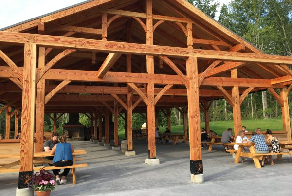 The Timber Frame Pavilion at Tree House Brewing Company, Charlton, MA