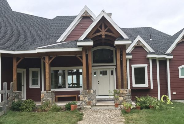 Large custom built timber frame home