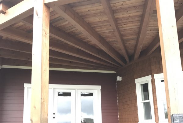 Covered Deck done by Timber frame