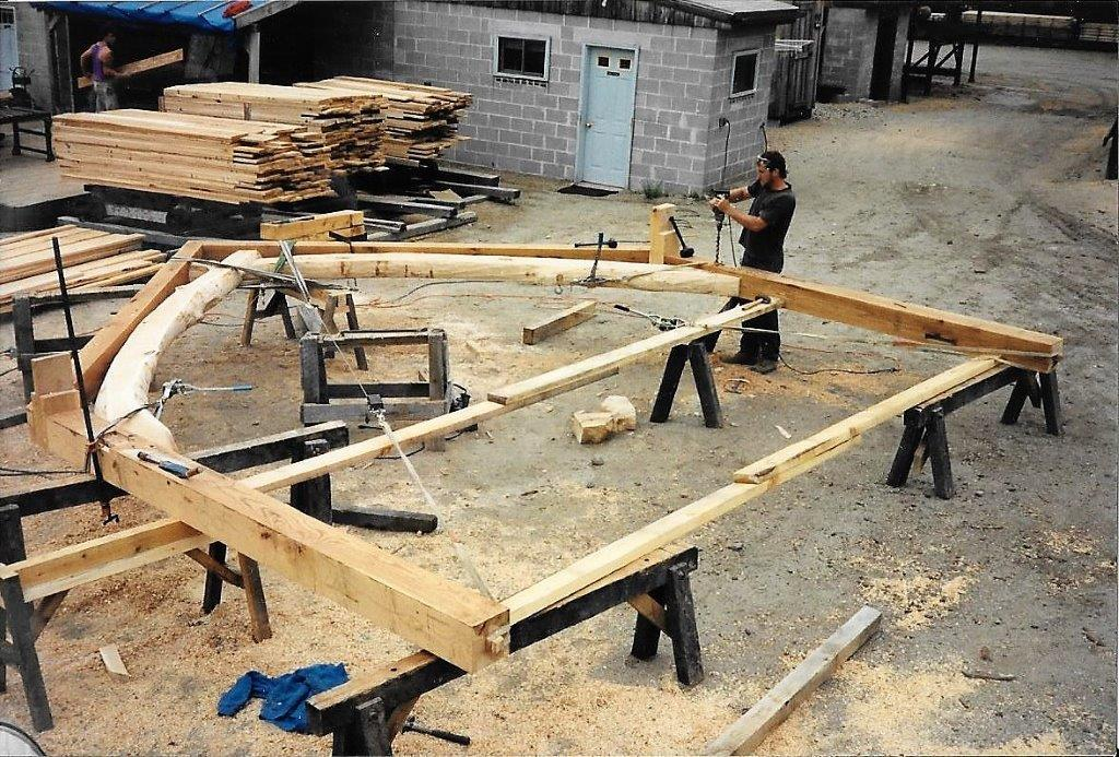Custom Principle Rafter Set up traditional jointery