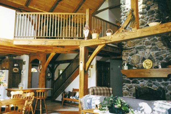 Timber Frame Custom Home with loft
