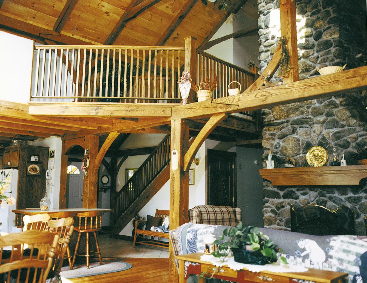 Timber Frame Custom Home with loft