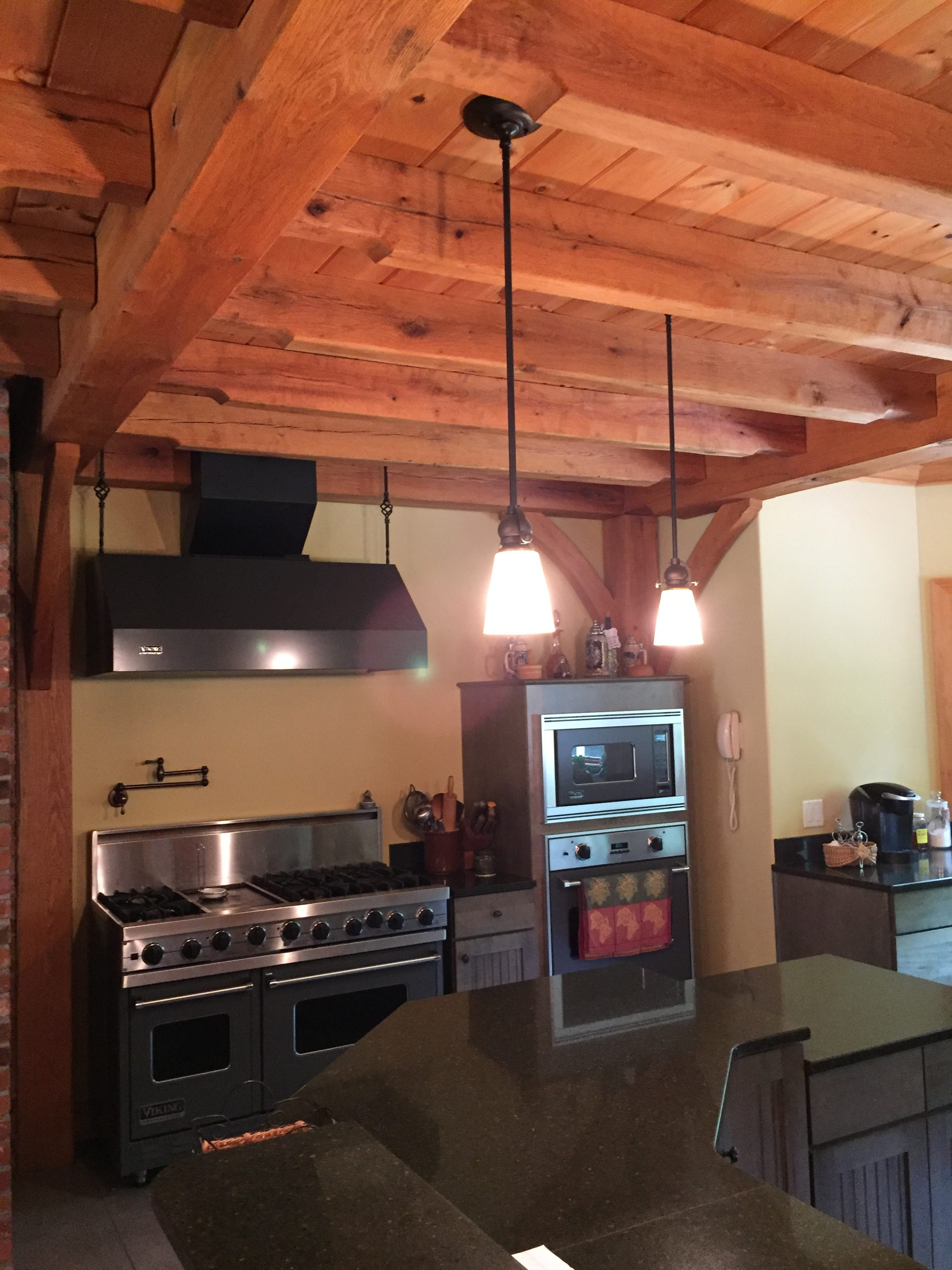 Custom Timber Frame fabulous kitchen with over sized stove ...