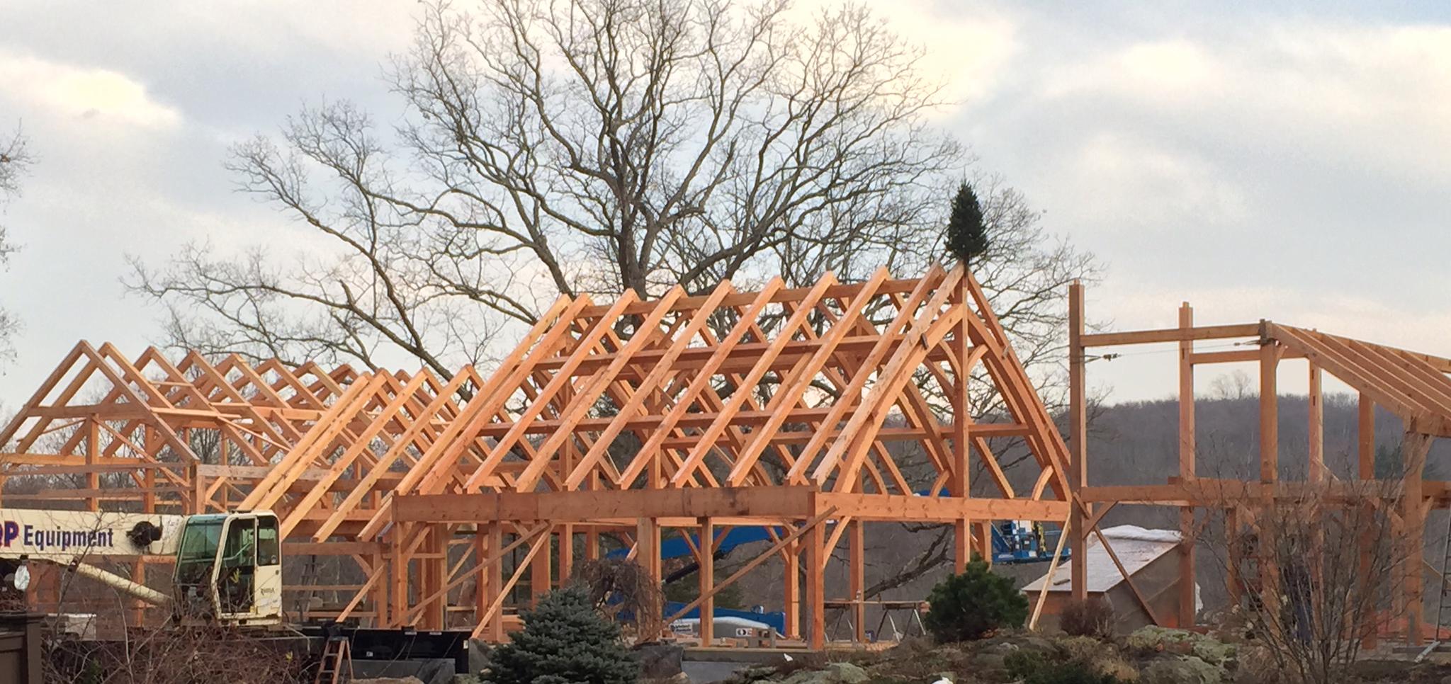 Timber Frame Custom Home build